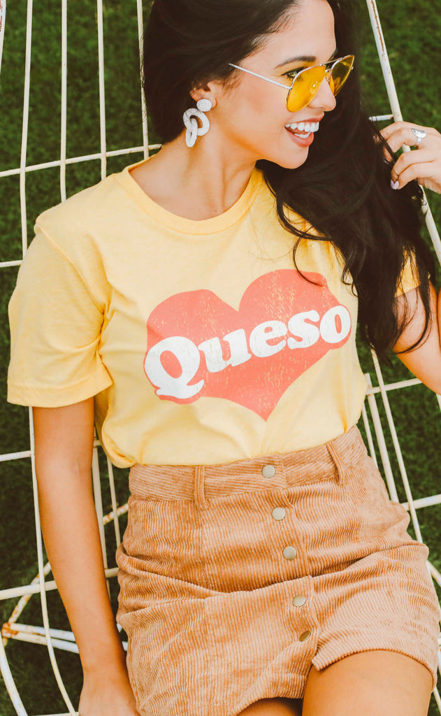 friday + saturday: queso t shirt