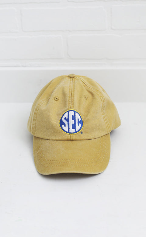 charlie southern: SEC hat - mustard