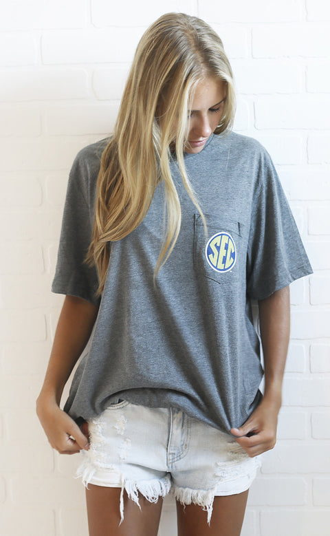 SEC logo pocket t shirt