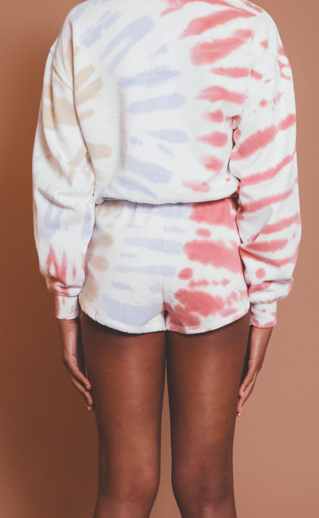 z supply: malibu tie dye short - white
