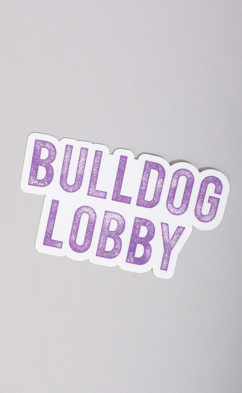 bulldog lobby stickers