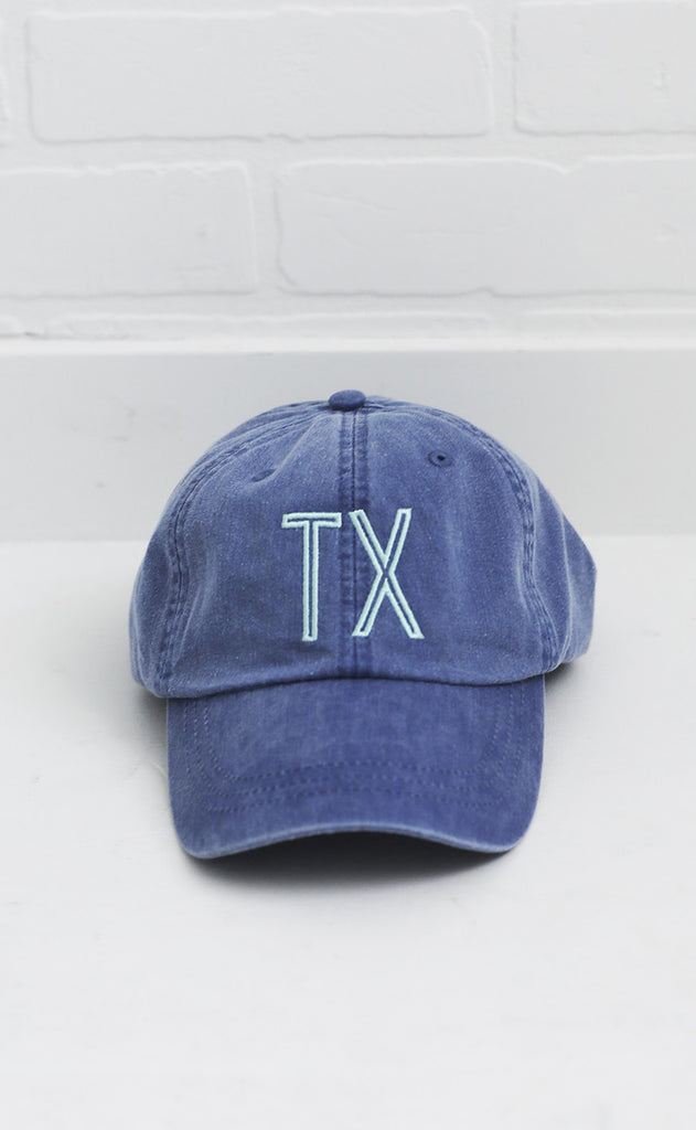 charlie southern: retro state hat - texas [blue/mint]