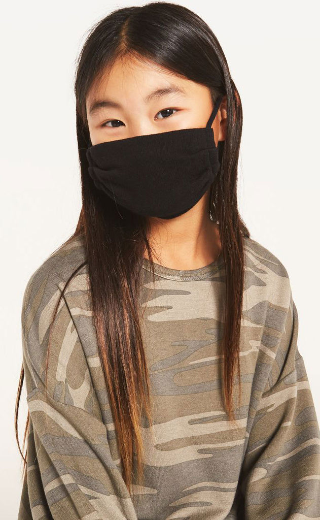 z supply: kids facemask pack of two - camo/black