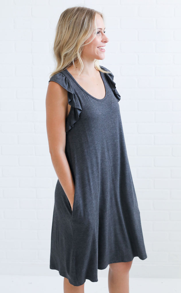 a touch of ruffle tank dress