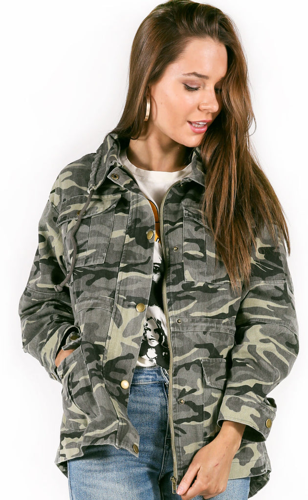 about face camo anorak jacket