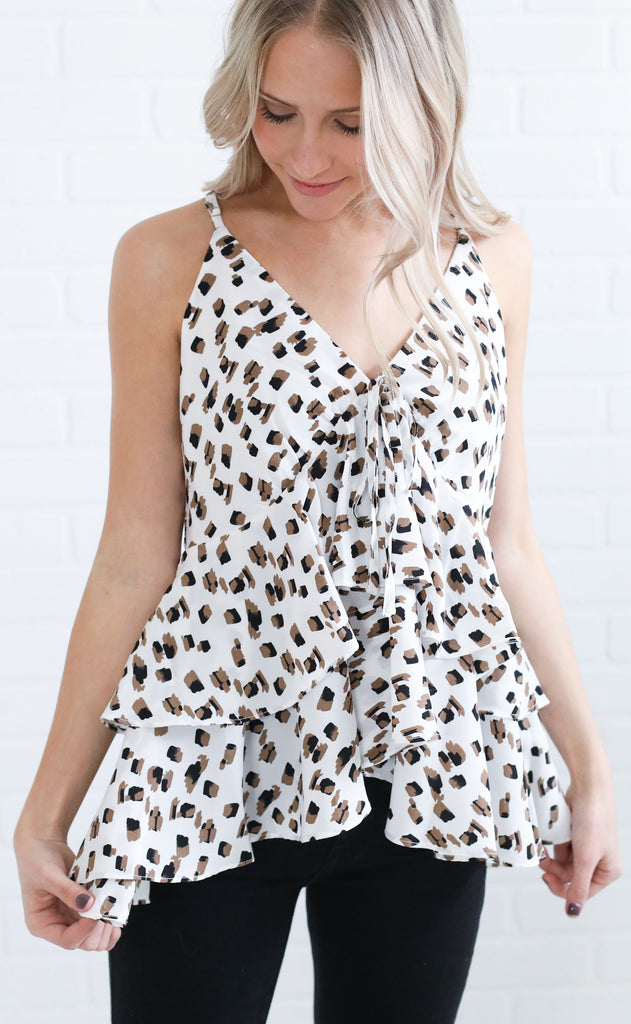 absolutely abstract printed top - ivory