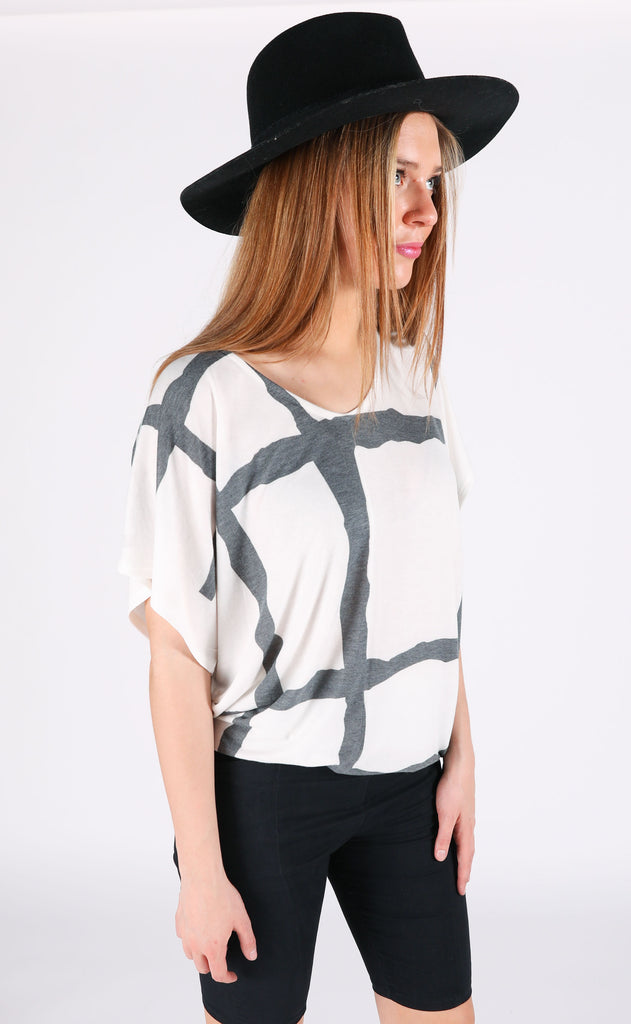 abstract oversized top