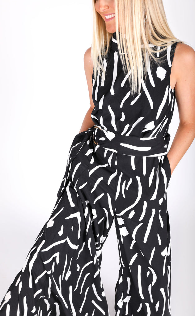 abstract printed jumpsuit