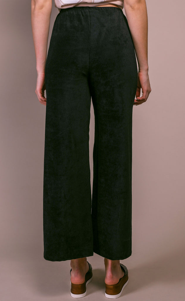 after hours ribbed pants - black