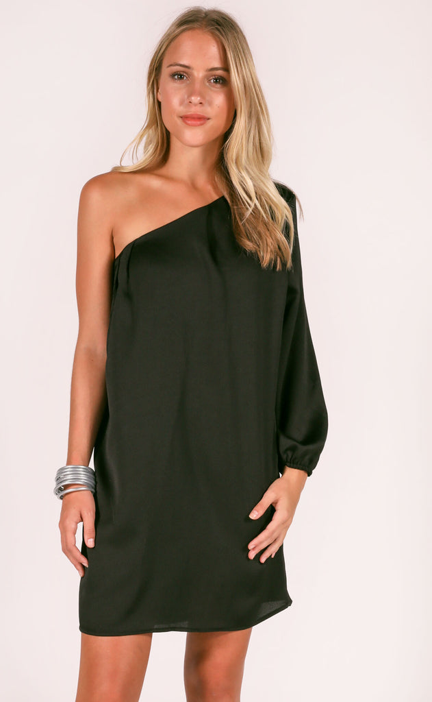 after hours one shoulder dress