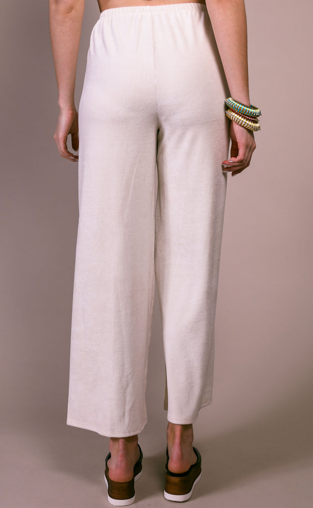 after hours ribbed pants - cream