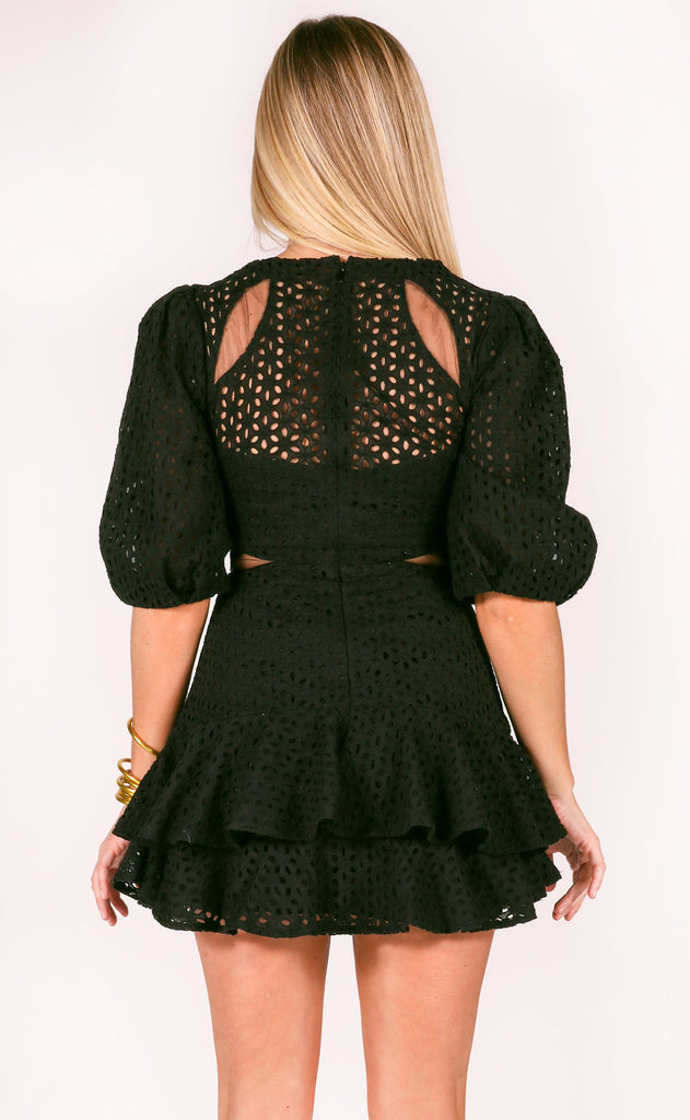 after midnight eyelet mini dress