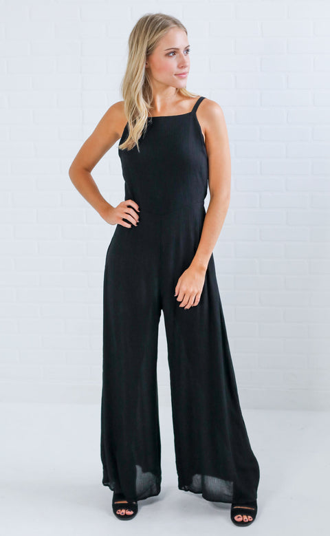 after party bow back jumpsuit