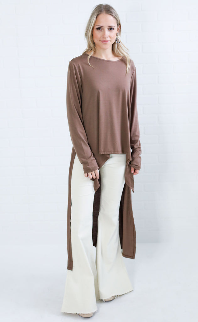 after party high low top - mocha