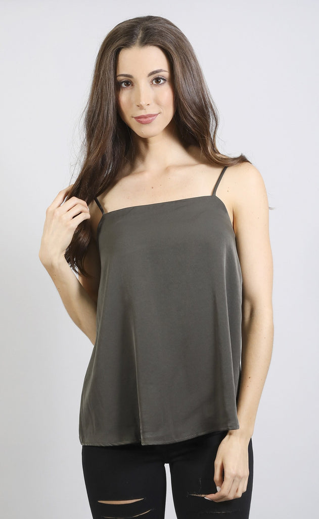 after party slip top - olive