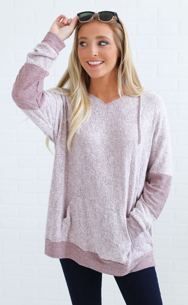 afternoon nap oversized sweater - burgundy