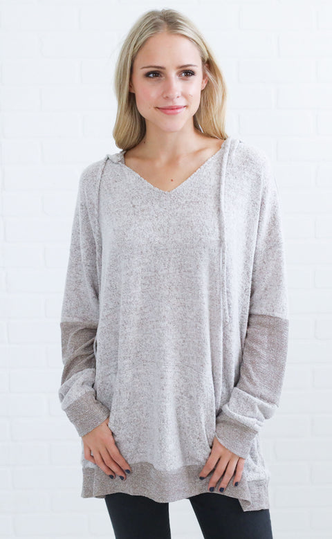 afternoon nap oversized sweater - taupe
