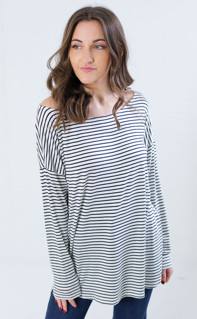 ahoy striped top