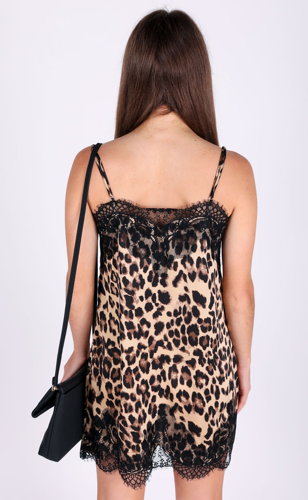 all about that lace slip dress - leopard