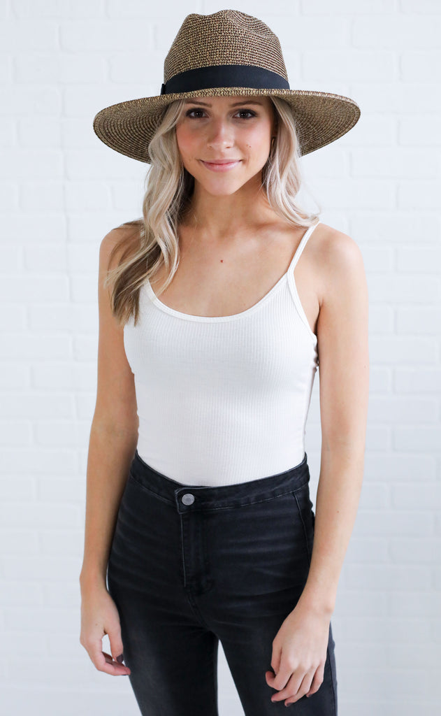 all about the basics ribbed bodysuit - ivory