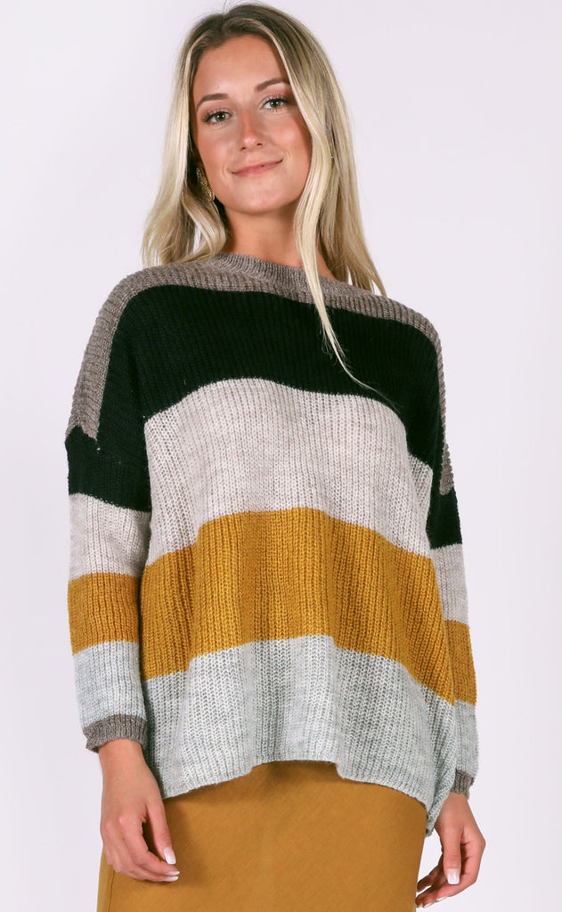 all for fall striped sweater
