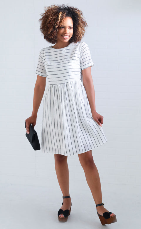all my love striped dress