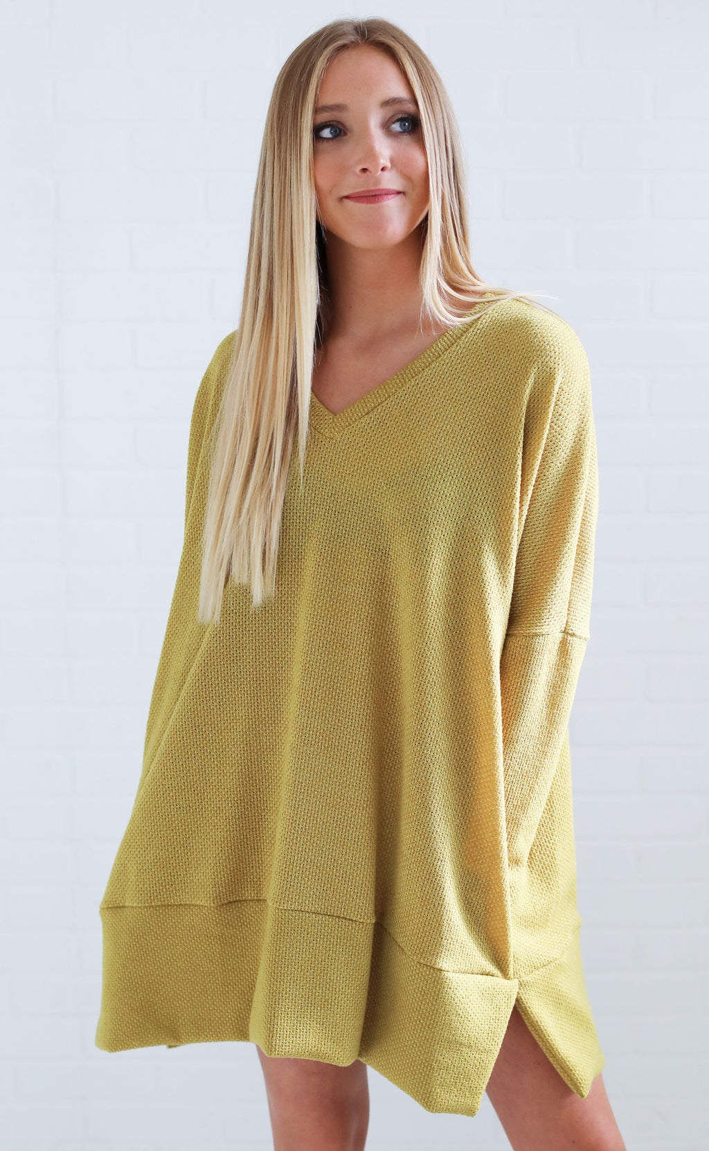 almost autumn knit tunic - mustard