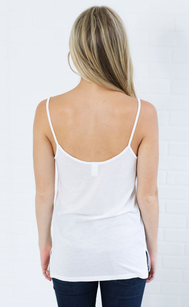 alternative: organic strappy tank top - ivory