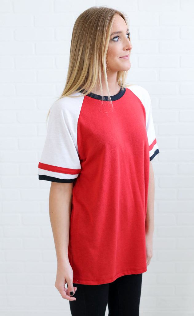alternative: slapshot vintage jersey t-shirt - red