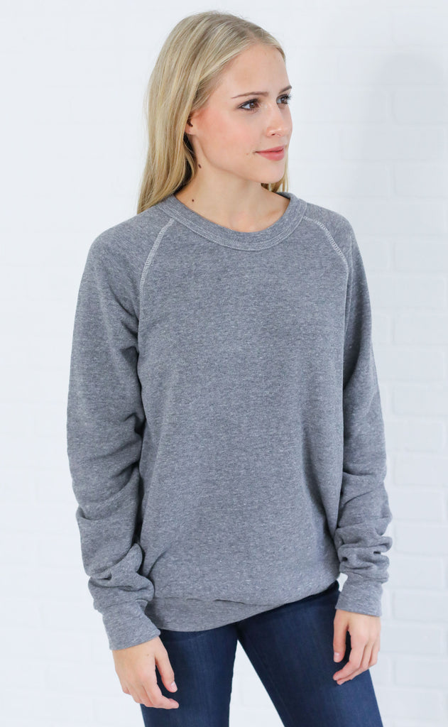 alternative: slouchy eco jersey pullover - grey