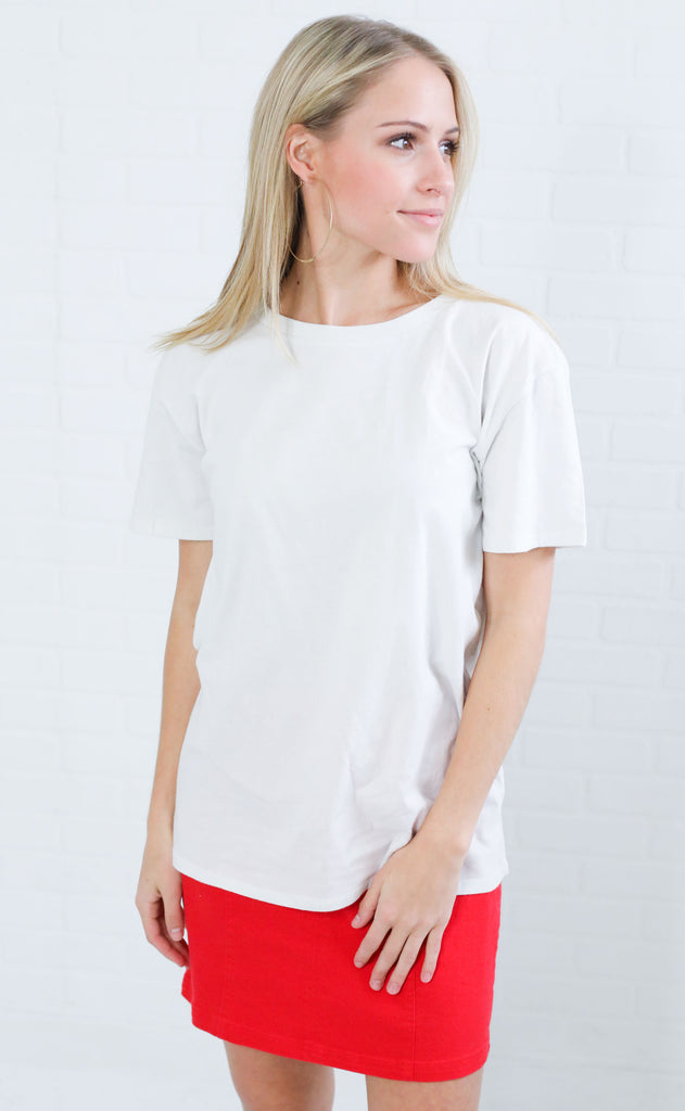 amuse society: tanner tee - white