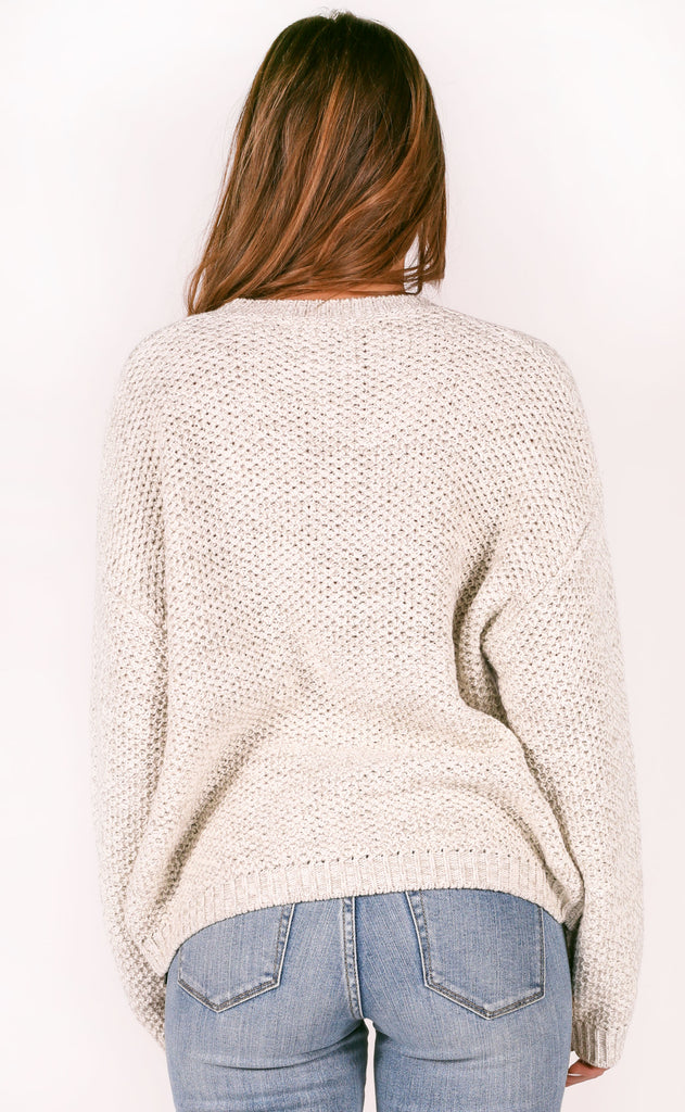 amuse society: amalia knit sweater - oatmeal