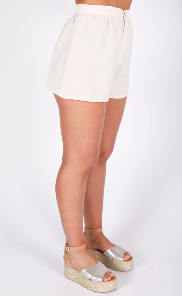 amuse society: canopy high waisted woven shorts