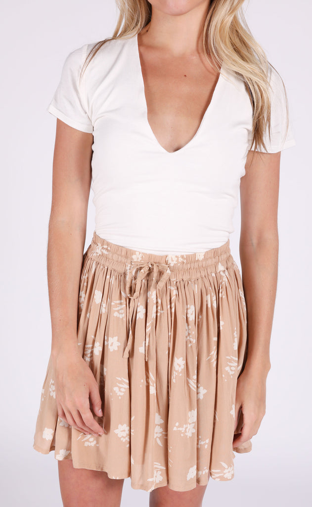 amuse society: coconut kiss mini skirt