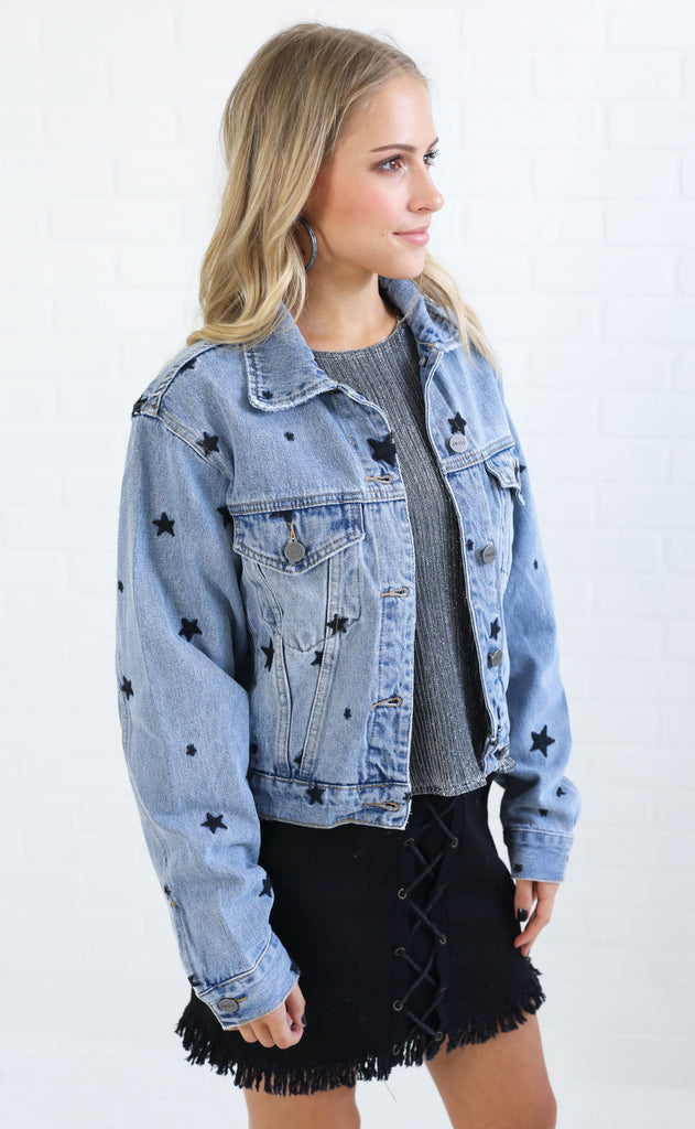 amuse society: day trip denim jacket