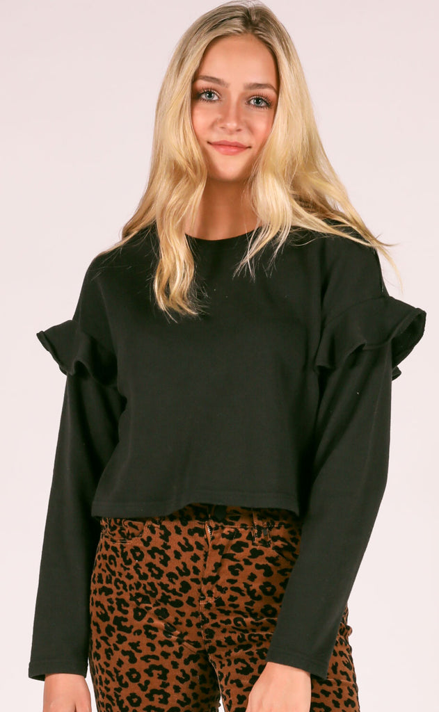 amuse society: della rosa fleece top