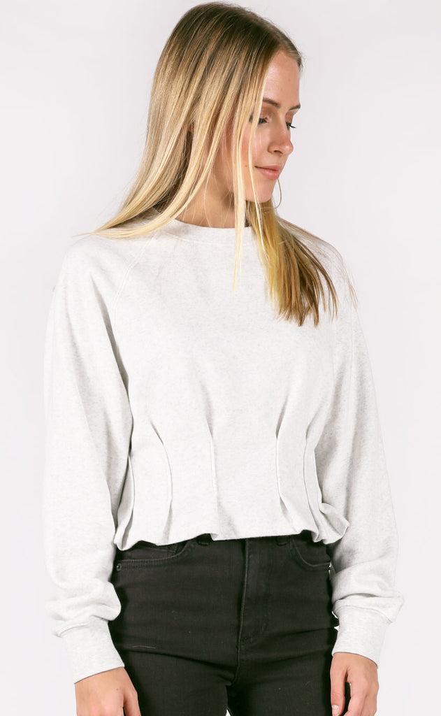 amuse society: devon fleece top - grey