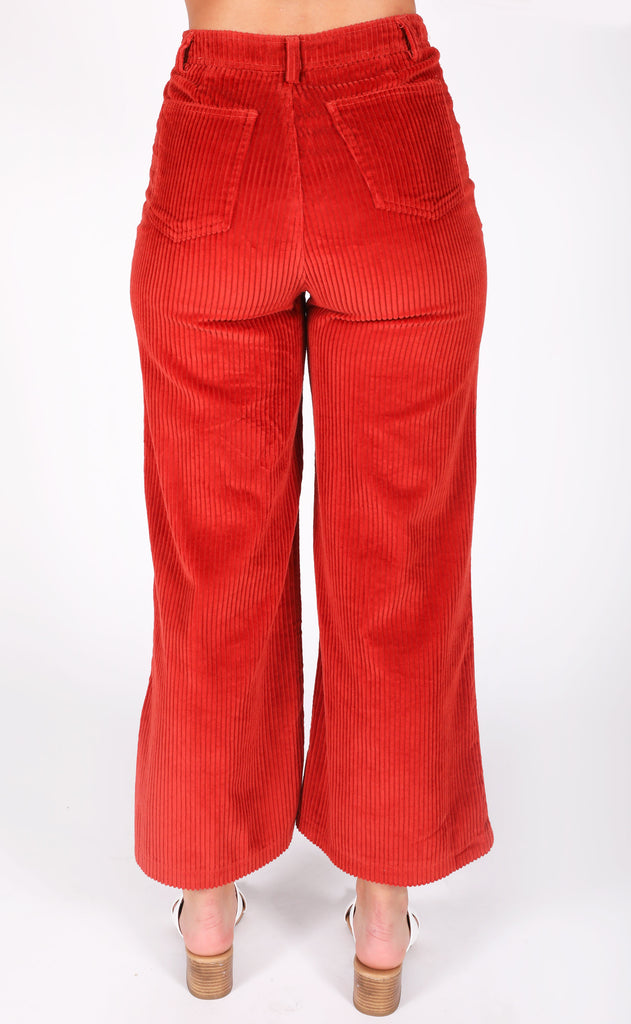 amuse society: good company wide leg pant - rouge