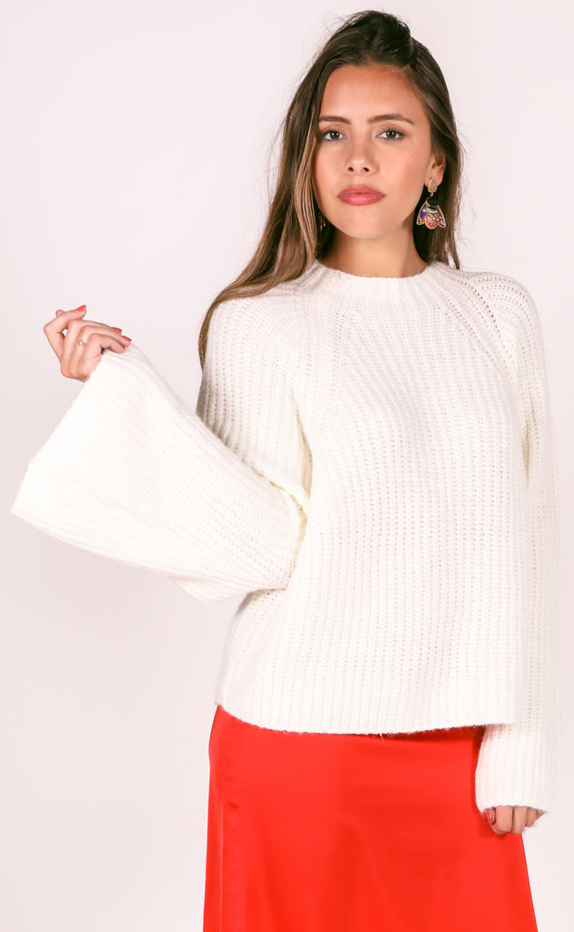 amuse society: lucca knit sweater - casablanca