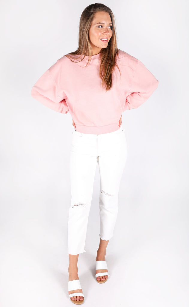 amuse society: misty morning pullover - pink