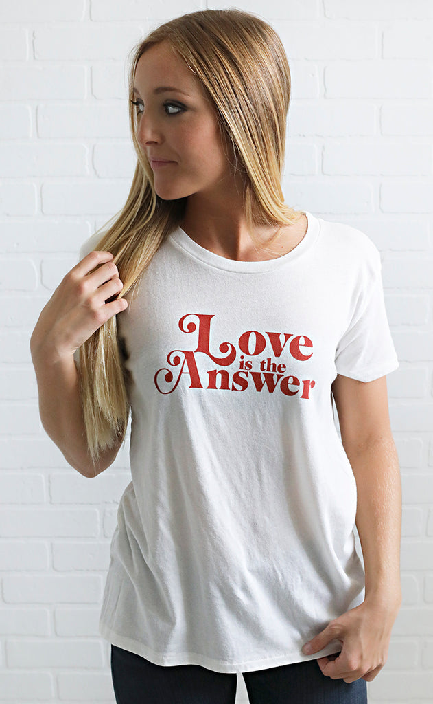 amuse society: psych love tee - casablanca
