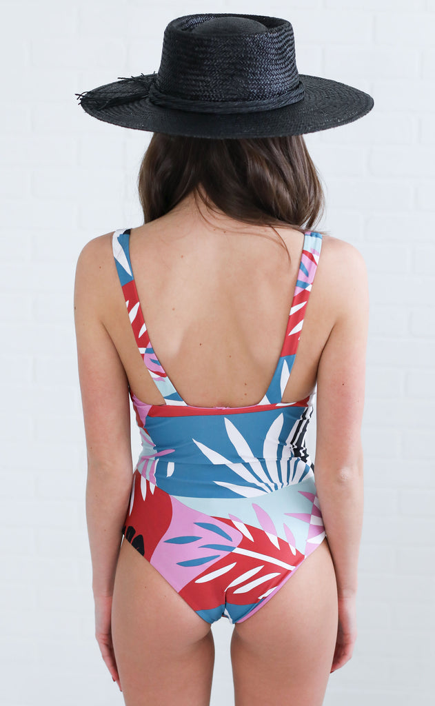 amuse society: ramsey one piece swimsuit - orchid