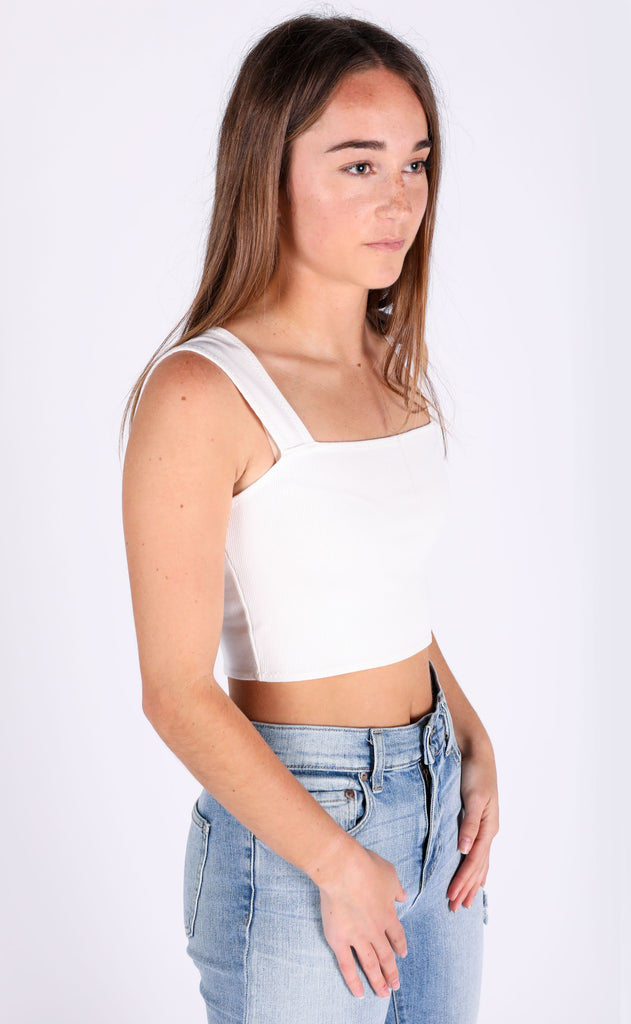 amuse society: easy love crop knit top