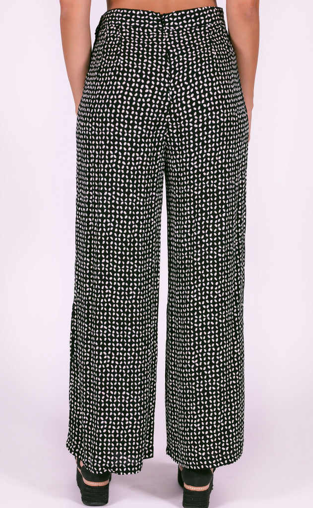 amuse society: sorrento woven pant - black