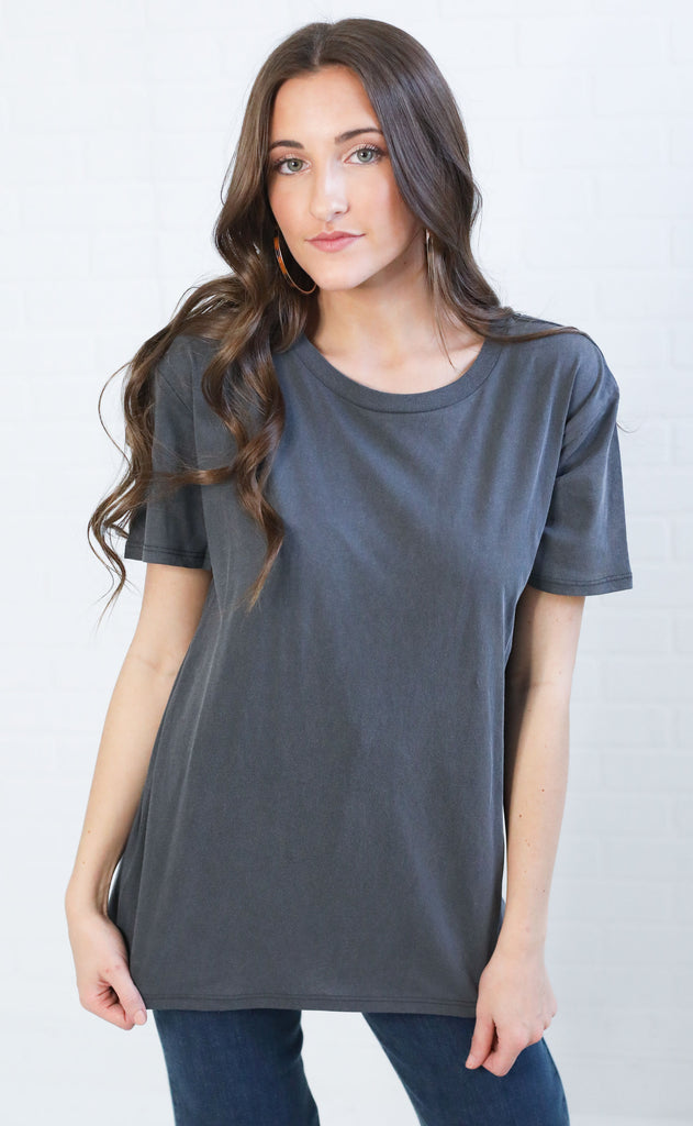 amuse society: tanner tee - charcoal