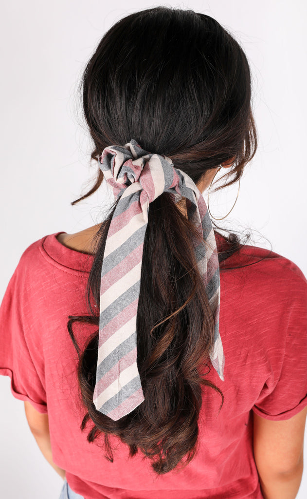 amuse society: up and away scrunchie scarf - stripe