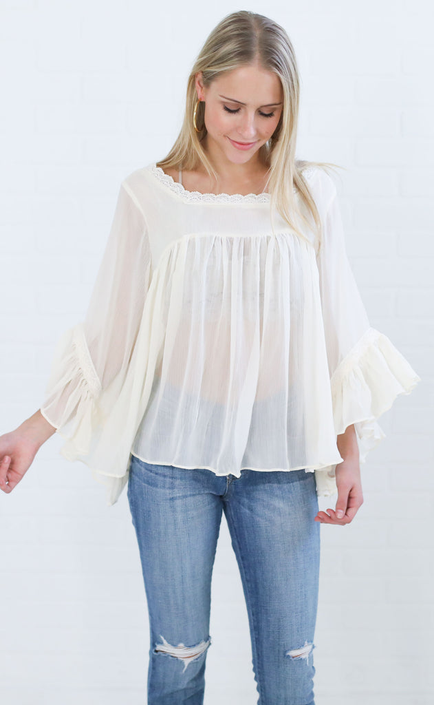 angelic lace top