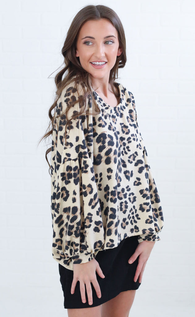 animal instinct printed top