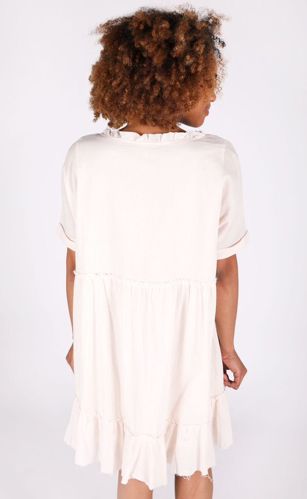 another day in paradise babydoll dress - ivory