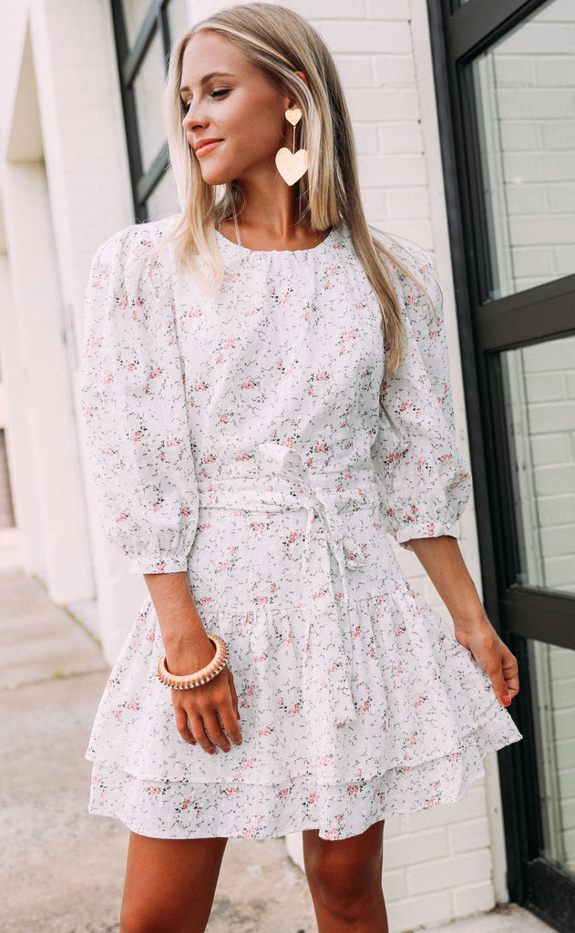 apple blossom mini dress